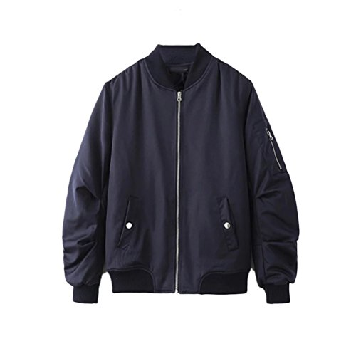 Zhhlaixing Jackets Bomber Zipped Warm Outdoor Blue Winter Padded Coats Classico Mens I8PqcO0Ir