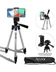 "Acuvar 50"" Inch Aluminum Camera Tripod + Universal Smartphone Mount Fits All Smartphones"