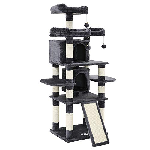 FEANDREA 67 inches Multi-Level Cat Tree for Large Cats, with Cozy Perches, Stable UPCT18G
