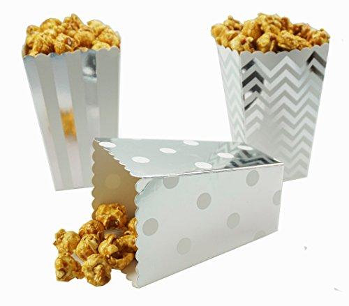silver mini popcorn boxes - 3