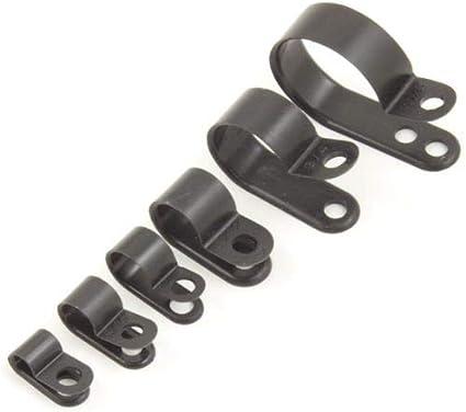 Pack of 25 Kafton P Clips 1//2 Black
