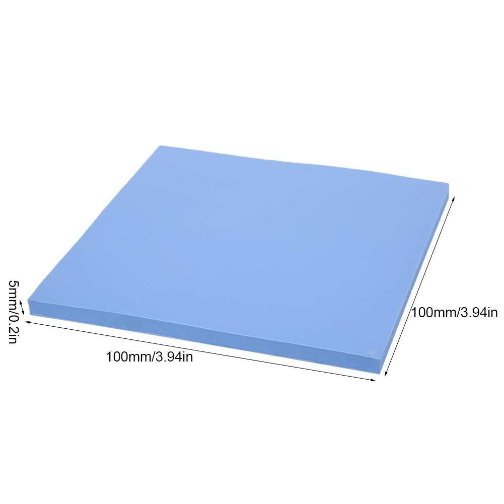 m-k Pad de conductivit/é thermique en silicone Feuille de dissipation thermique GPU 100x100x5mm 1.5W
