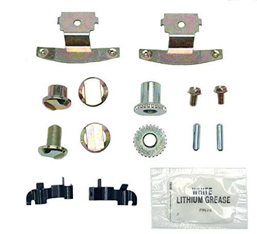- ACDelco 18K1629 Professional Rear Parking Brake Hardware Kit with Clips, Adjusters, Pins, Bolts, and Grease