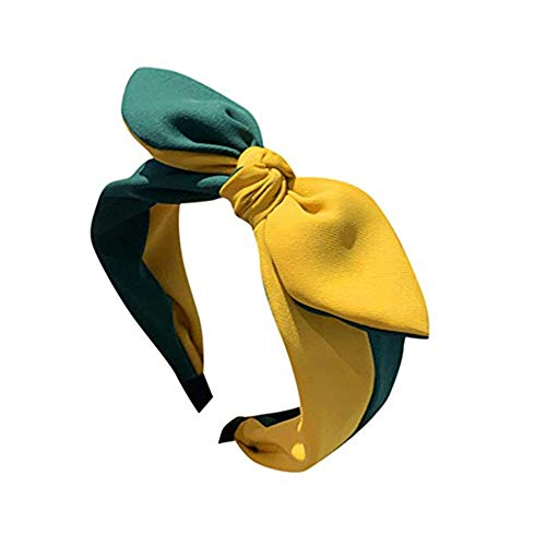 Women Headbands Turban Headwraps Hair Band Bows Accessories for Fashion Or Sport Criss Cross Head Wrap Hair Clips Yellow