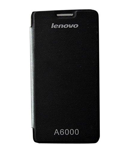 COVERNEW Flip Cover for Lenovo A6000   Black FlippLenovoA6000Black