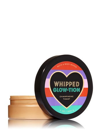 Bath and Body Works Whipped Glow-tion Champagne Toast Body Butter, 7 ounce jar -
