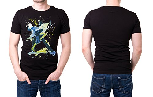 Tanzpaar_I schwarzes modernes Herren T-Shirt mit stylischen Aufdruck