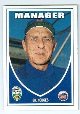 Gil Hodges Baseball Card 1969 New York Mets Manager 2002