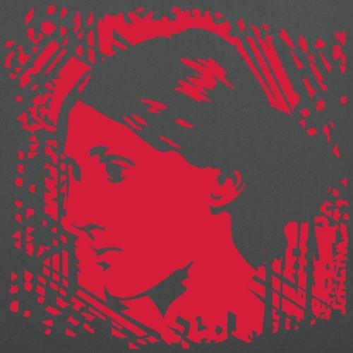 Spreadshirt Virginia Woolf Portrait Stoffbeutel Graphite