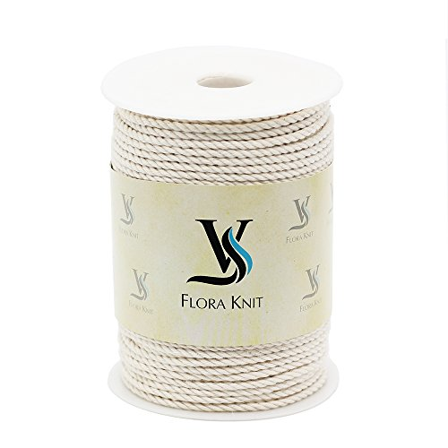 Natural Cotton Macrame Cord Rope - 3mm 1/10inch 100 Yards for Plant Hanger Craft Wall Hanging Handmade ()