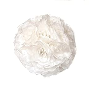 10 Pack Romantic Rose Pomander Flower Balls Rose Bridal for Wedding Bouquets Artificial Flower DIY White 18