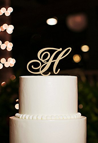 Amazon Com Monogram Cake Topper Letter H Cake Topper For Wedding H