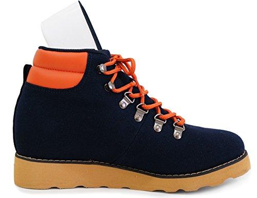Mnx15 Hommes Ascenseur Chaussures Hauteur Augmentation 3,9 Gio Marine Marine