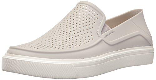 crocs Women's Citilane Roka Slip-On W , Pearl White, 11 M (Best Crocs White Socks)