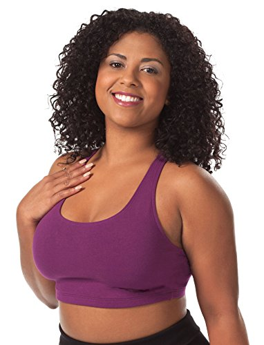 LEADING LADY Womens Plus-Size Light Impact Sports Bra