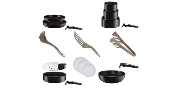 Tefal Ingenio conjunto Talent Inducción Negro Set 18 piezas con accesorios Enjoy: Amazon.es: Hogar