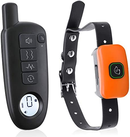 Dog Training Collar with Remote, Rechargeable Waterproof Dog Shock Collar with 3 Training Modes, Beep, Vibration and Shock, Up to 1300Ft Remote Range, E-Collar for Small Medium Large Dogs