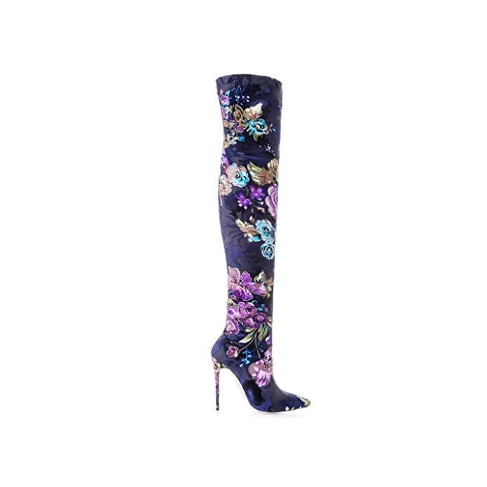 Tyx-ljj Stivali Stivali Da Donna Elastici A Tacco Alto Punta