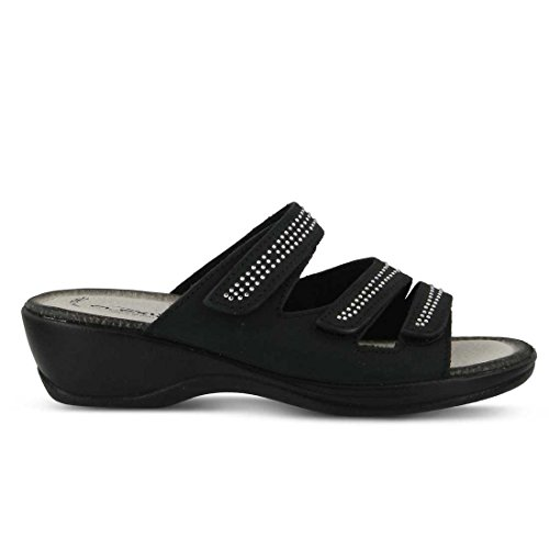 Essentials Chela Sandal Flexus Black Slide Womens wT5WWq6g
