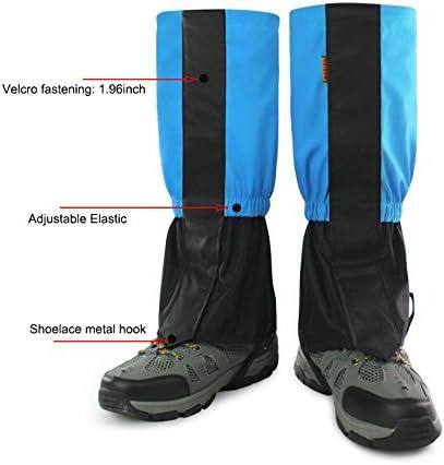 1pair Men Women Warm Walking Gaiters Climbing Leggings Elastic Hiking Waterproof