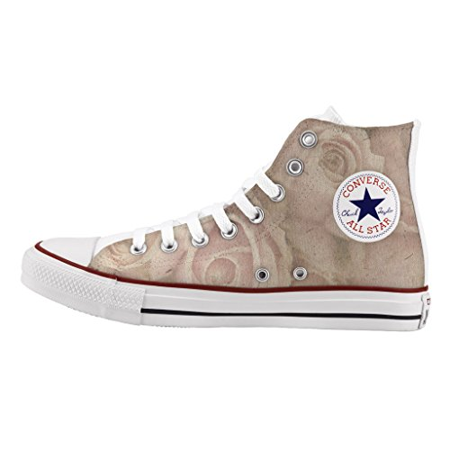 Scarpe Converse Personalizzate All Star Alta - sneakers stampa Rosa vintage