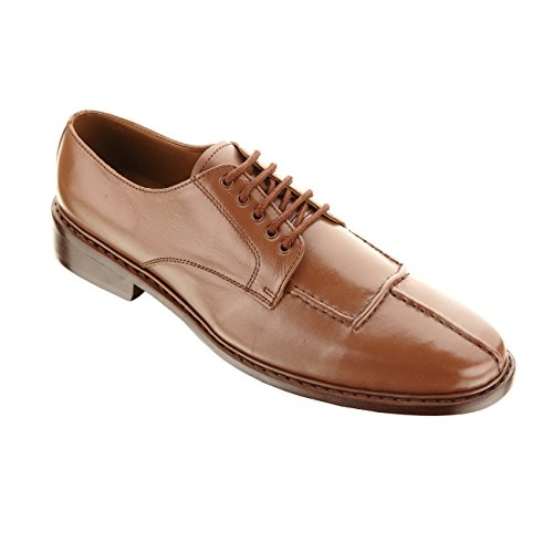 Handmade Damen Frost Hammer Mens Leather Shoes, Modern lace-up designed perfect for all occasion wear, Color Brown, Size US12 by Damen Frost