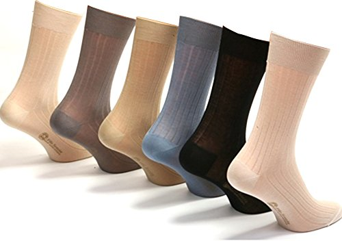 Daniel Jacob Men's 12 100% Cotton Socks Striped 9.5-11 (UK) 44-46 (EU) 10.5-12 (US) Pastel Colors by Daniel Jacob