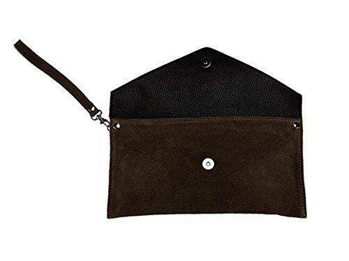 Brown scarlet Bag Clutch bijoux Dark scarlet Brown bijoux Xq8PZZ
