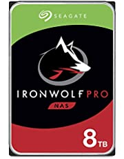 Seagate IronWolf Pro 8TB NAS Internal Hard Drive HDD – 3.5 Inch SATA 6Gb/s 7200 RPM 256MB Cache for RAID Network Attached Storage, Data Recovery Service – Frustration Free Packaging (ST8000NE001)