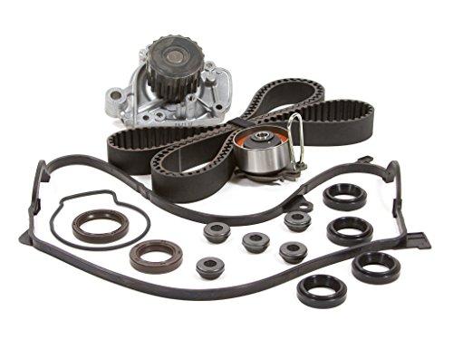 01 Water Pump Cover (Evergreen TBK312VCT 01-05 Honda Civic VTEC 1.7L D17A Timing Belt Kit Valve Cover Gasket Water Pump)