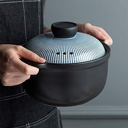 SGSG Casserole en céramique multifonctionnelle à Haute température cuisinière à gaz Simple ménage de Grande capacité en céramique Saine/Flamme Ouverte Applicable Couleur Mod