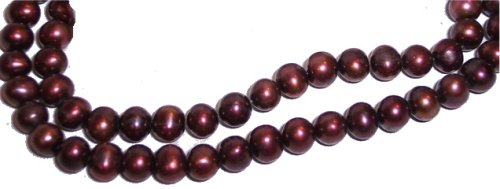 Cranberry Potato (Fresh Water Potato Pearls 6-9mm Cranberry 16