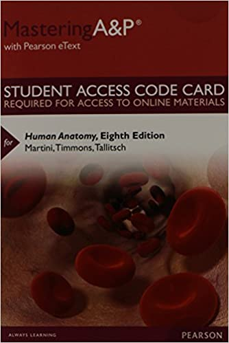 Masteringap with pearson etext standalone access card for masteringap with pearson etext standalone access card for human anatomy 8th edition 8th edition fandeluxe Gallery