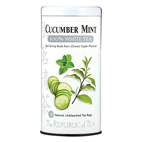 (The Republic of Tea Cucumber Mint 100% White Tea, 50 Tea Bag Tin)