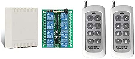16 Channel RF Transmitter Wireless Remote Controller 433 MHZ 16 CH Button Switch