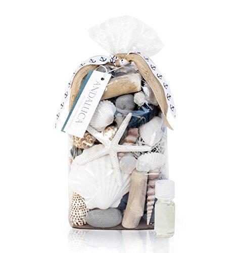 - Andaluca Pacific Vanilla Isles Potpourri | Large 20 oz Bag + Fragrance Vial | Scents of Vanilla, Sandalwood, Coconut Blooms, Hibiscus, Water Lily, Tonka Beans, Sea Salt | Coastal Home Decor Fragrance