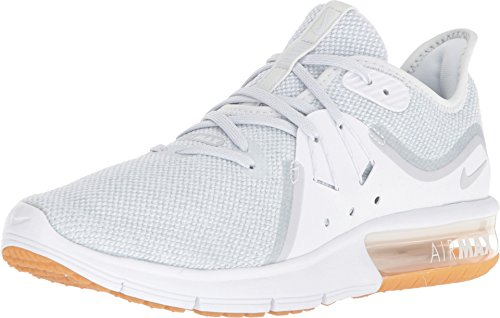 Nike Women's Air Max Sequent 3 Running Shoe White/Pure Platinum Size 6.5 M US
