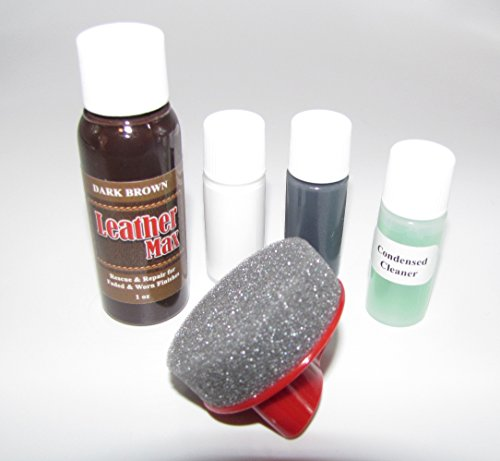 Leather Repair, Refinish, Restore Kit / Leather Max Touch-up for Leather & Vinyl Refinishing (Dark Brown)