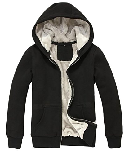 Hooded Black Wool Fleece Coats today Sweatshirt Warm UK Thick Men's Winter Jackets nqPwpIgS