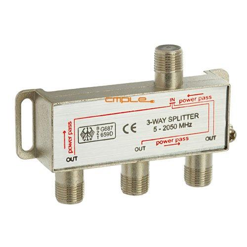Cmple - 3-Way Splitter 5-2050MHz F-Type