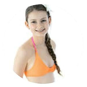 alfombrilla de ratón adolescente sonriente en bikini - ronda - 20cm