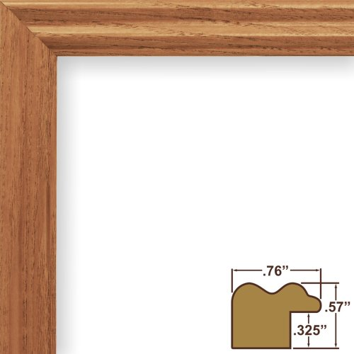 Craig Frames 200ASH105 18 by 24-Inch Picture Frame, Wood Grain Finish, .75-Inch Wide, Natural Brown