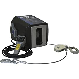 Dutton-Lainson StrongArm 120 Volt AC Powered Electric Winch with Remote – 1,800-Lb. Capacity, Galvanized Aircraft Cable, Model Number SA7015AC