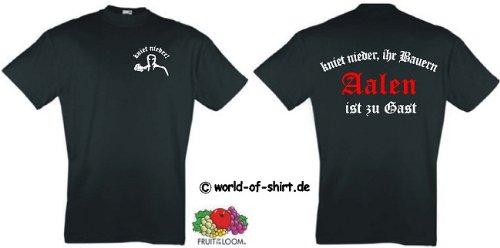 world-of-shirt Herren T-Shirt Aalen Ultras kniet nieder