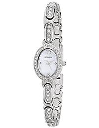 Bulova Women's Ladies Crystal, 96L199 White Watch