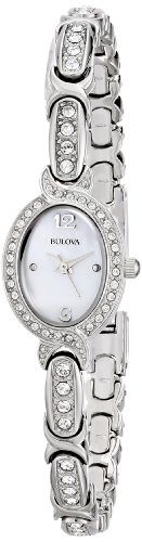 Pearl Quartz Watch - Bulova Women's 96L199 Swarovski Crystal Stainless Steel Watch