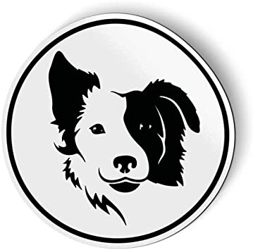 Border Collie Dog Breed Automotive Car Refrigerator Locker Vinyl Magnet