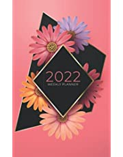 2022 Weekly Planner: Week To View   5 x 8 Dated Agenda   Monday Start Appointment Calendar   Organizer Mini Book   Soft-Cover Floral Pink