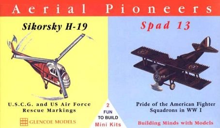 GLN3103 Aerial Pioneers Sikorsky H-19 & Spad 13 1:0 Scale Military Model Kit
