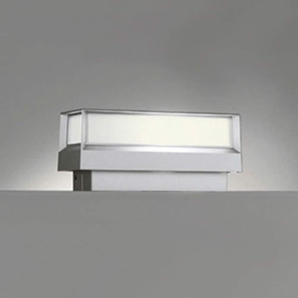 オーデリック 【工事必要】 LEDエクステリアライト 門柱灯【明暗センサ】 マットシルバー:OG042177LD B008U4DUUU